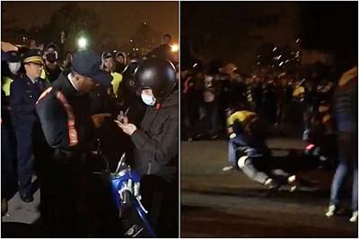 快訊/虐嬰暴怒「就要等你」台南400人圍地院!騎士飆車怒吼衝進場遭壓制