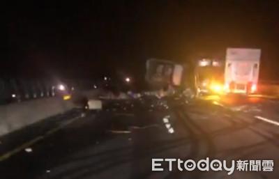 獨/「差5秒命就沒了」國道3車恐怖追撞!他目睹全程嚇:司機臉都血