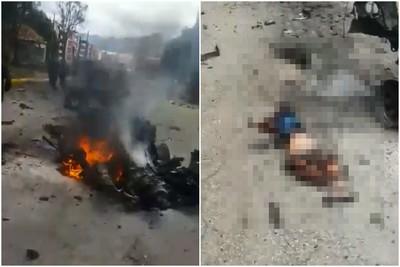 載80kg炸藥衝警校!汽車突爆炸「學生碎成肉塊」9死50傷 建物玻璃噴飛