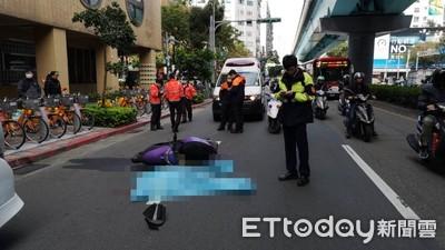 北市和平東路機車、砂石車、UBER碰撞 女騎士遭碾爆頭