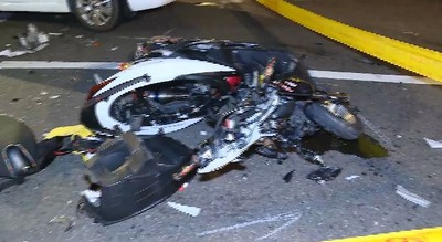 北市松仁路口車禍「機車噴飛解體」 20歲男騎士身亡