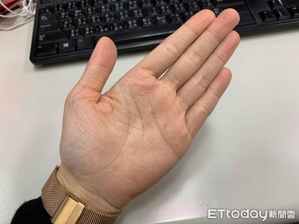 手掌,手相。(圖/記者李佳蓉攝)
