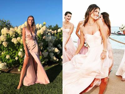 IG討論度破表的10套「明星伴娘服」 蜜桃色、 珊瑚橘仙氣逼人