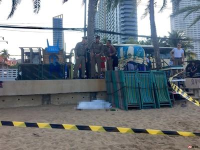 芭達雅海灘半裸女屍…空酒瓶散落 男堅稱「她做到一半猝死」