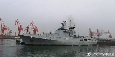 解放軍23日海上閱兵 俄印越派「最先進軍艦」抵達青島