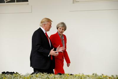 川普見梅伊談合作關係 美英將達成「非常實質」的貿易協議