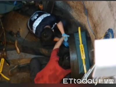 花蓮工安意外!涵洞內2工人遭鐵桶砸中 1人多處骨折急救