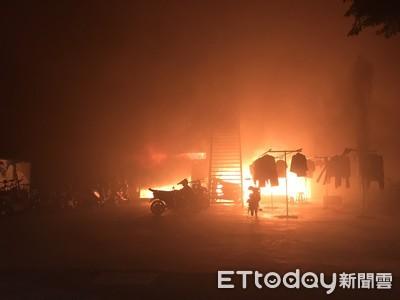台南官田外勞宿舍暗夜惡火 10人跳樓逃生墜地送醫