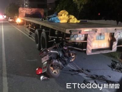 快訊/15歲少年騎車爆頭濺血!「無照雙載」自撞拖板車卡車尾 送醫不治