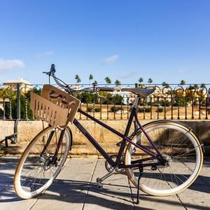 300個咖啡膠囊變身亮紫腳踏車 買一捐一助貧童上學