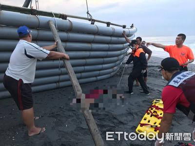 1噸重膠筏下露出一隻手!「搬開驚見女屍」漁民嚇壞 死因超詭異