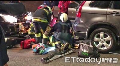 雙車夾撞畫面曝!20歲Uber Eats外送員車縫搏命 腹部大量出血慘死街頭