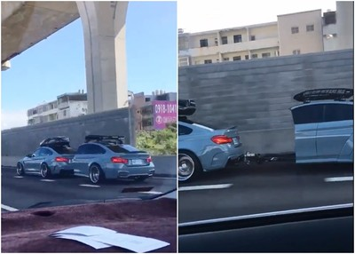 國道驚見自改「BMW露營車」!車身切半真相曝光 網驚:太帥了吧
