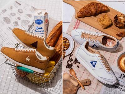 長棍麵包、拿鐵咖啡變成球鞋 拉花藏在鞋墊內超驚喜