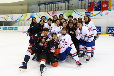 台灣盃女子冰球賽我國包辦冠亞軍 U18中華隊全勝封王