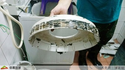 清潔劑洗假的?! 洗衣機噁心髒汙全卡在外槽