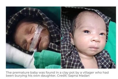 傷心爸媽安葬兒子「突然聽到哭聲」!意外救出被活埋4天大女嬰
