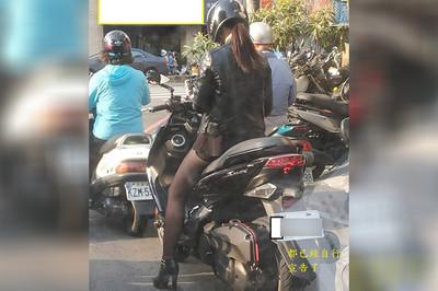 """馬尾騎手""""逆天黑襪子腿""""被拍到被網視為震驚:她是香港路上的中國女車神"""