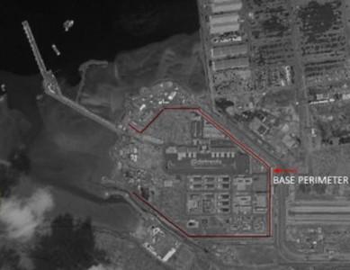"""共產黨軍隊在吉布地的軍港""""繼續擴張""""已接近尾聲!預計它將停靠一艘比遼寧更大的戰艦。"""