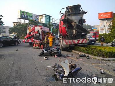 台南水泥車猛衝600m!輾撞7車釀5傷…男騎士捲入車底「卡輪胎」慘死