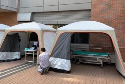 武漢封城民眾大逃亡 台灣醫院防疫備戰「急診外搭帳篷」