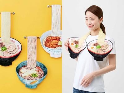 拉麵造型毛巾吃貨必備!炸蝦、叉燒配料超豐富 看了肚子好餓