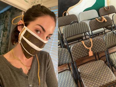 LV手袋變成椅子!美國藝術家「拆解名牌」口罩、洗手液超時尚