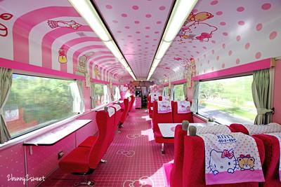 車上爽唱卡拉OK!全台唯一超萌Kitty環島列車 提供免費餐點、飲料