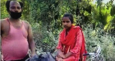 花光積蓄買腳踏車!印度15歲女載傷父返鄉…8天騎1126公里