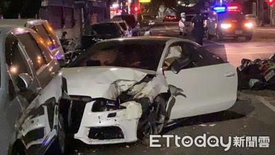 賠到脫褲了!23歲男業務借Audi A5上夜店 10杯香檳秒斷片...撞破民宅毀9車