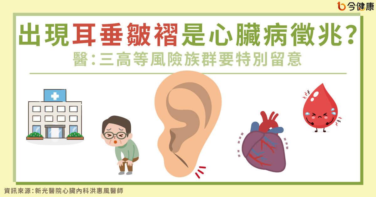 耳垂冒「詭異皺褶」恐是心臟病!醫曝4細微前兆:像土石流來得突然