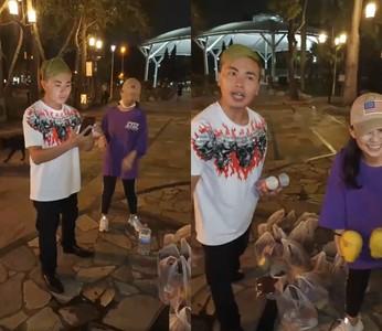 送物資給街友!「吃屎哥+潑屎妹」現身中壢 ... 一起創造全台灣最屌直播
