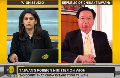 專訪吳釗燮被關心!陸使館狂發函騷擾 印度媒體怒批:別下指導棋