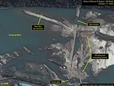 核設施水壩遭颱風沖破!北韓「超尷尬」緊急修補...衛星相片曝