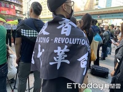 黑衣港青上街撐12港人 倡台灣發起亞太人權法院